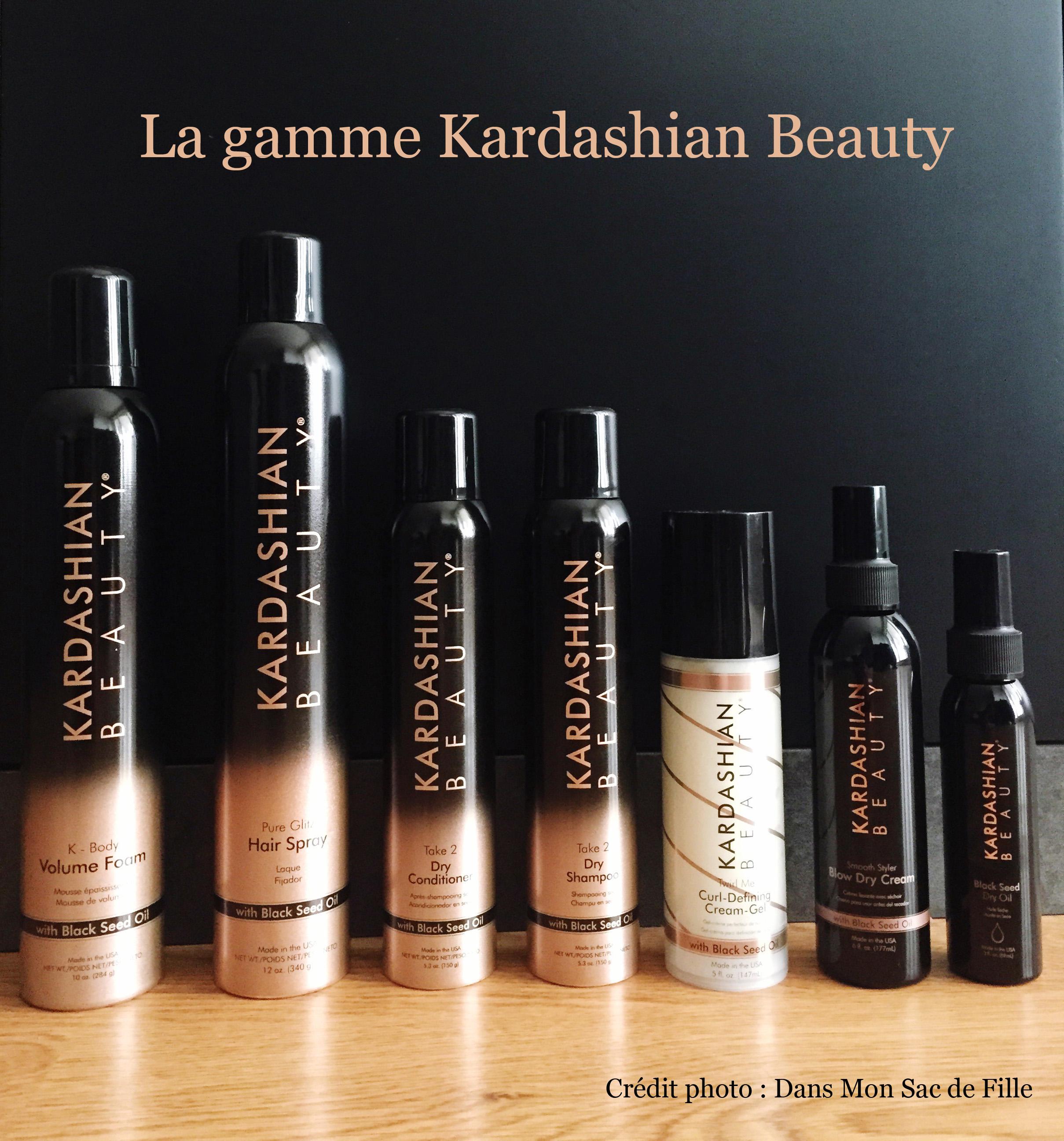 mon avis sur la gamme de produits capillaires kardashian beauty dans mon sac de fille. Black Bedroom Furniture Sets. Home Design Ideas